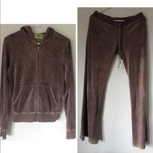 Juicy Couture Track Suit Set Hoodie L Pants M EUC